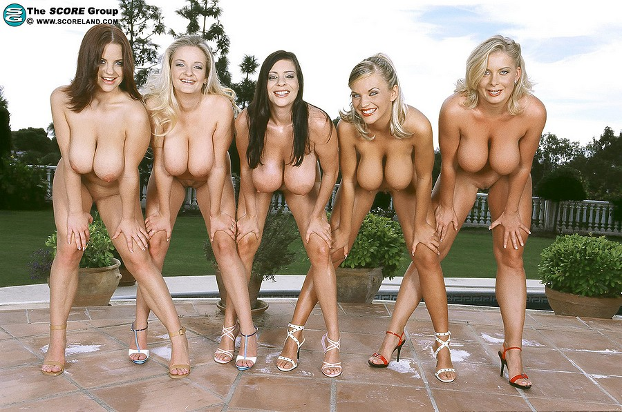 Groups of female nudist with big boobs